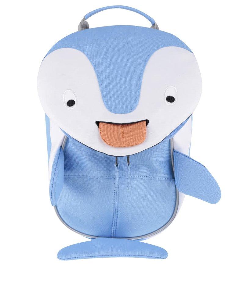 Bílo-modrý batoh ve tvaru delfína Affenzahn
