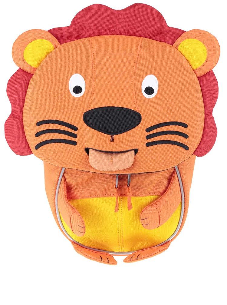 Oranžový batoh ve tvaru lva Affenzahn