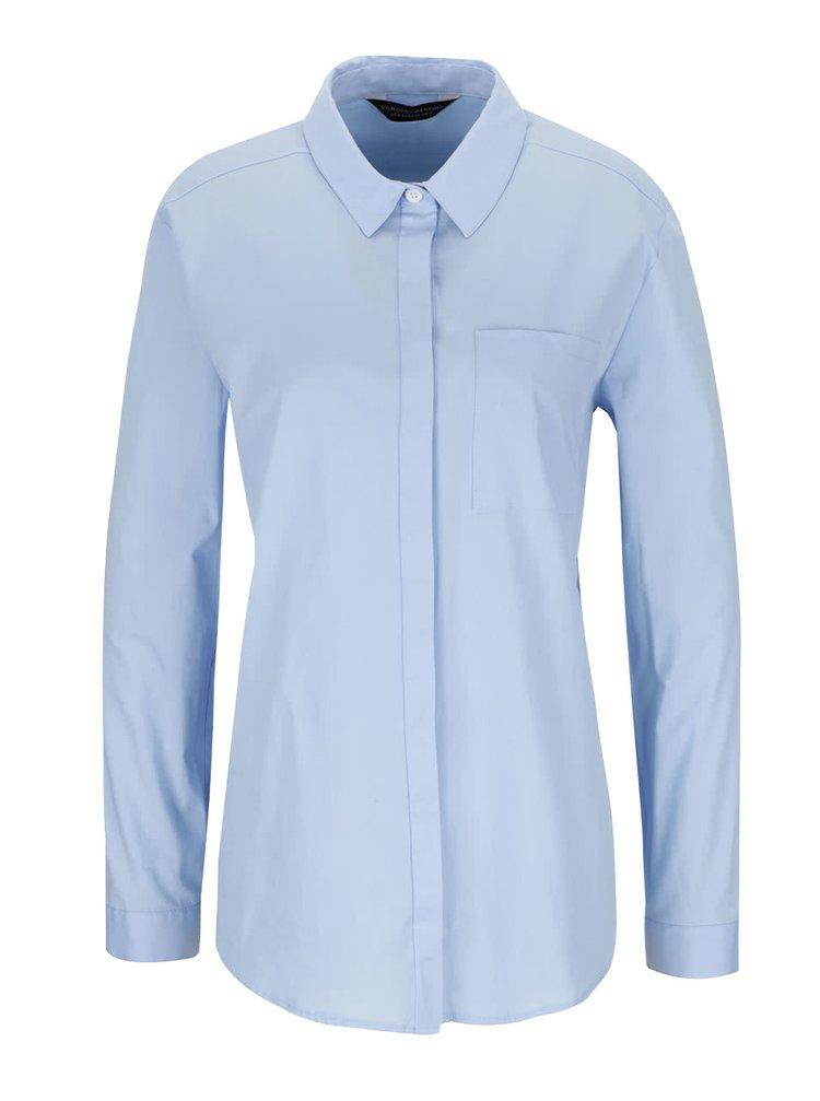 Světle modrá košile s kapsou Dorothy Perkins