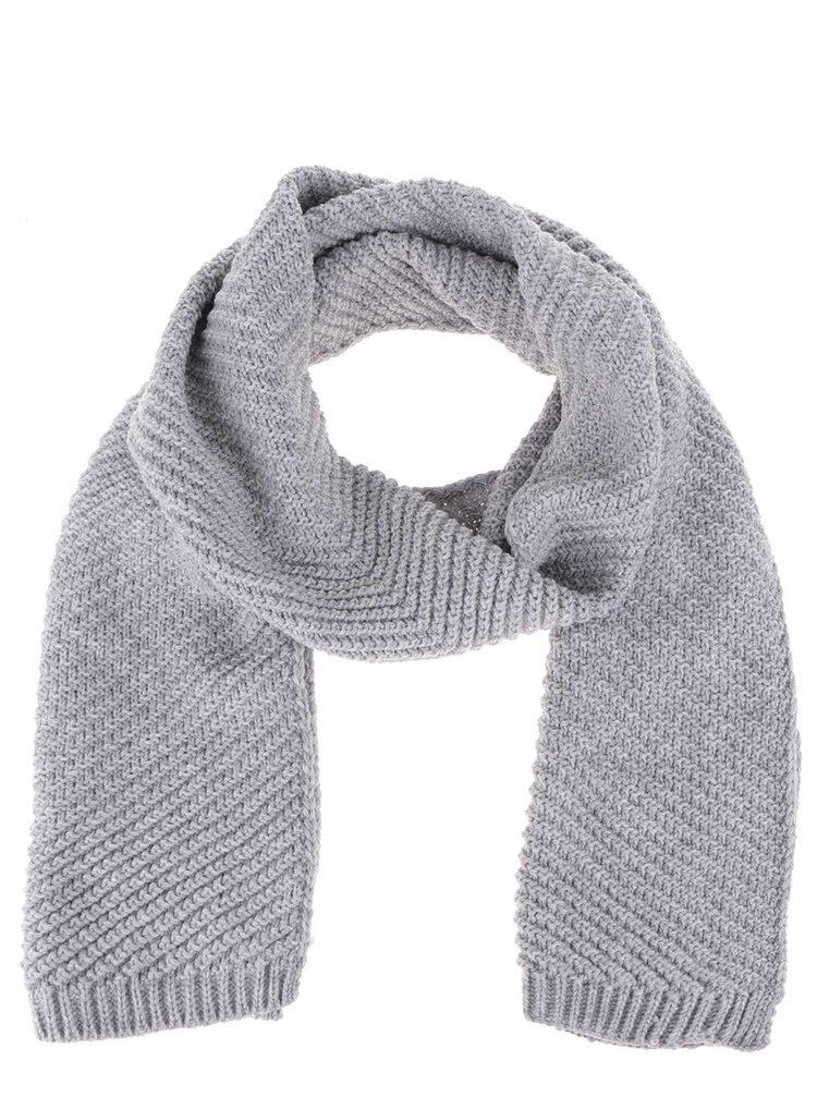 Sivý pletený šál s drobným vzorom Dorothy Perkins