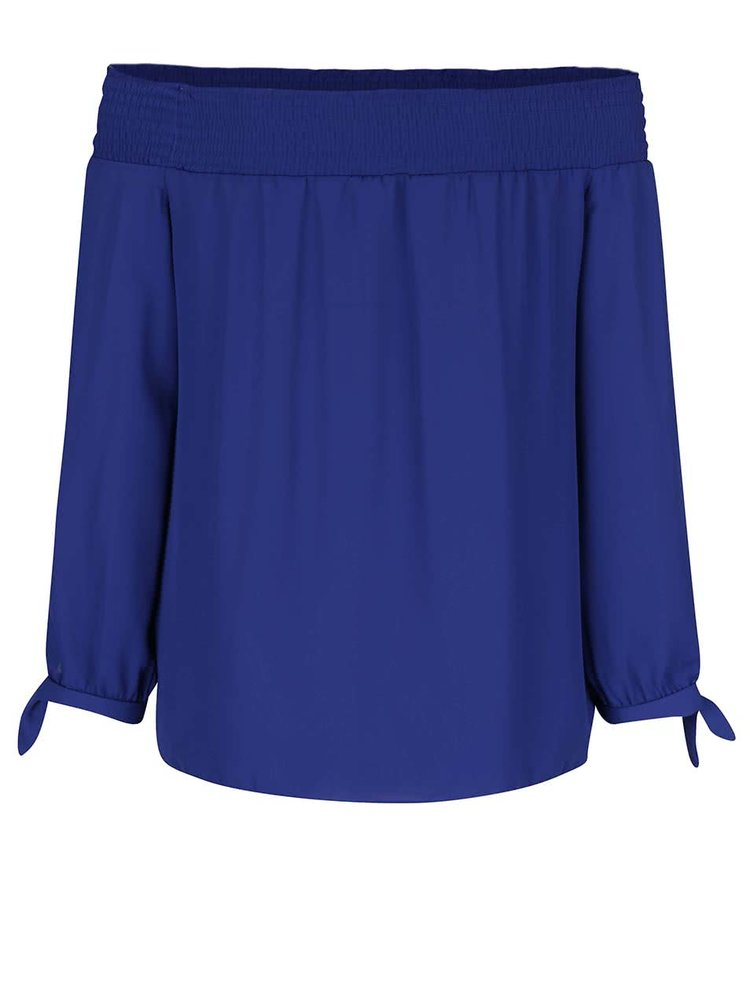 Bluză albastră Dorothy Perkins cu decolteu pe umeri