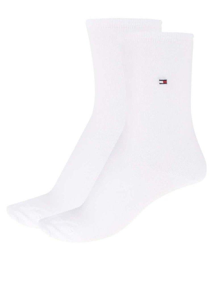 Sada dvou párů dámských ponožek v bílé barvě Tommy Hilfiger