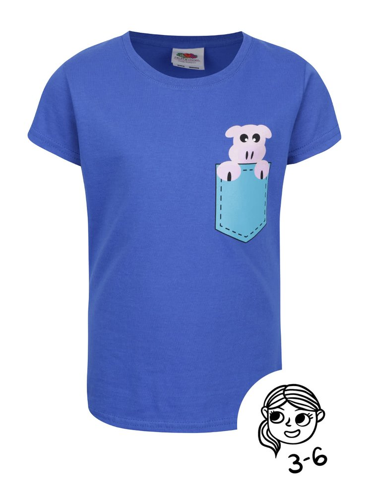 Modré dětské tričko s potiskem ZOOT Kids Prasátko