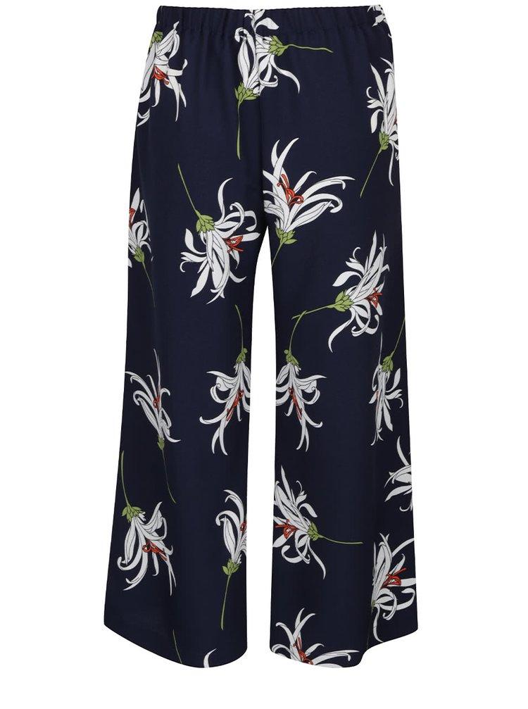 Pantaloni trei sferturi albastru închis Dorothy Perkins cu imprimeu
