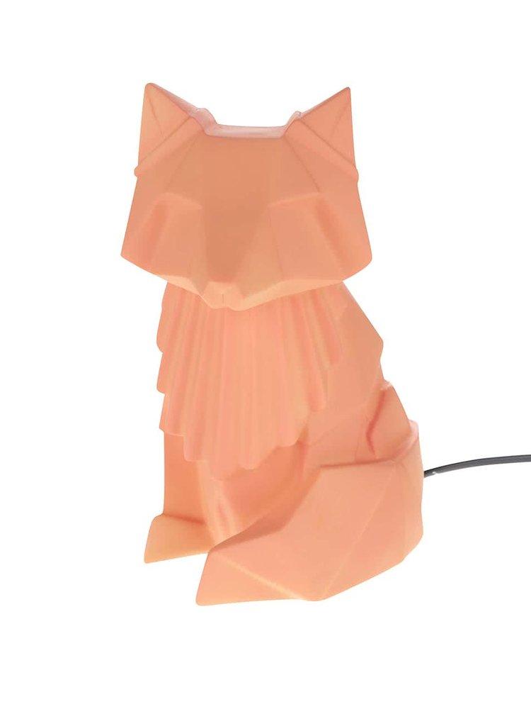 Oranžová lampa ve tvaru lišky Disaster Nordikka