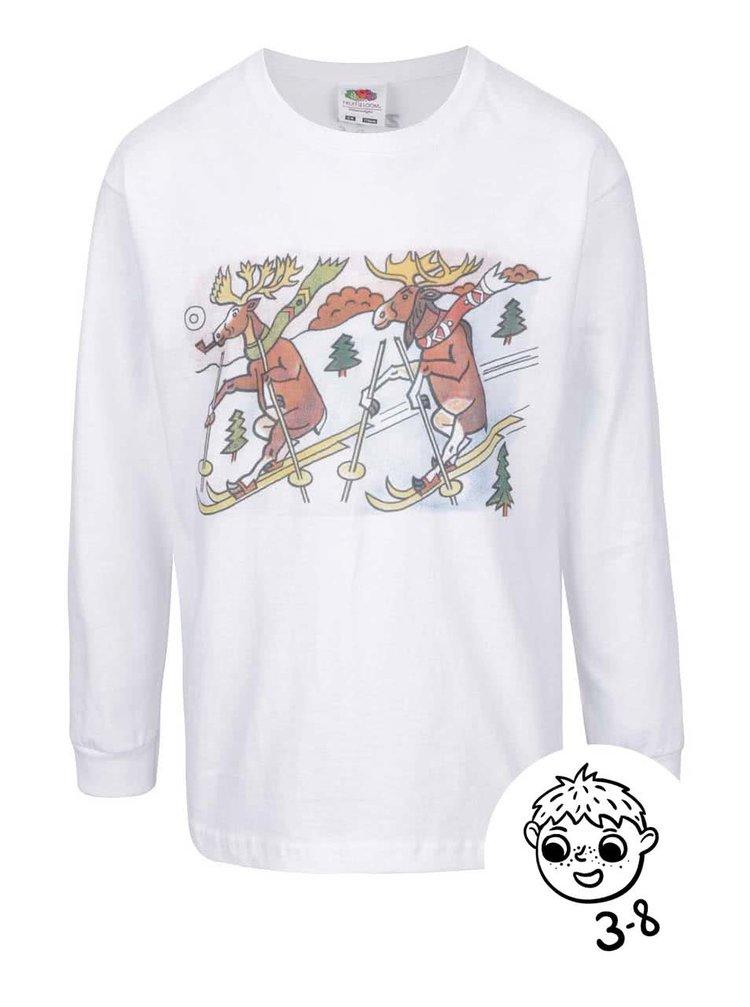 Bílé dětské tričko s dlouhým rukávem ZOOT Kids Jos. Lada Sobíci