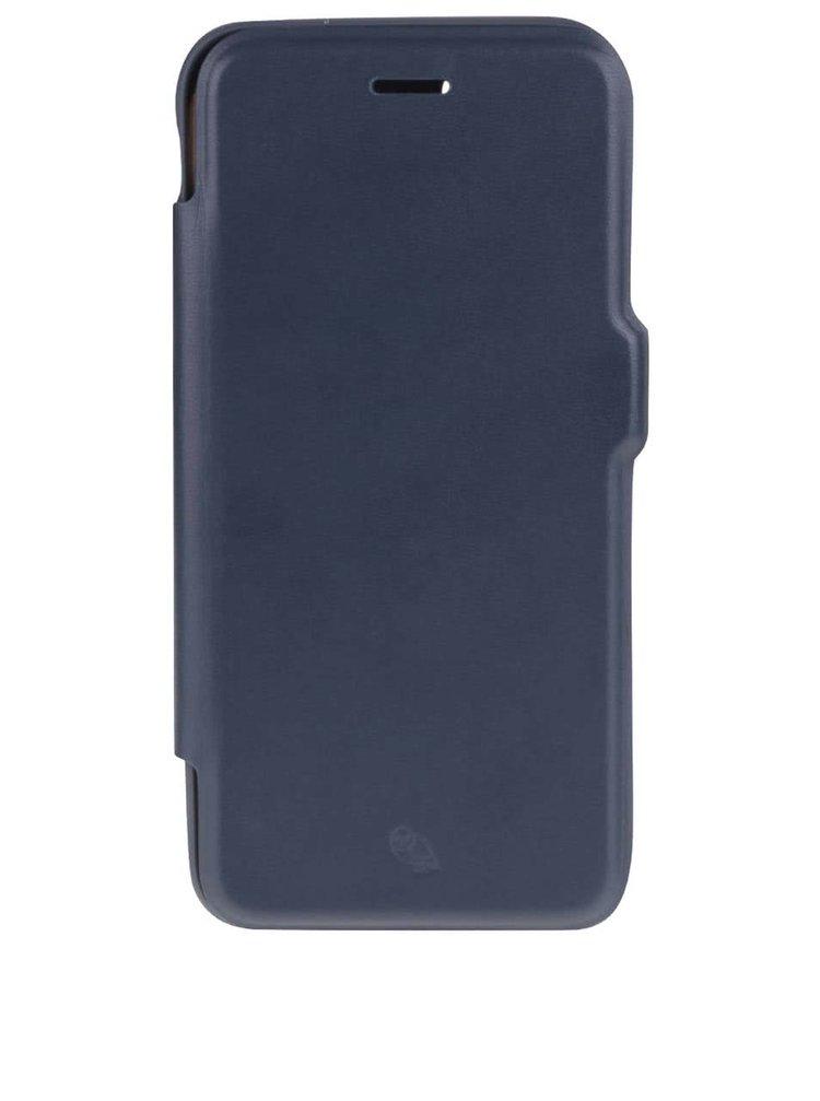 Tmavě modrý kožený kryt na iPhone 7 s přihrádkou na platební karty Bellroy