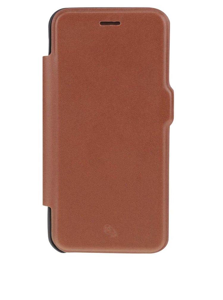 Svetlohnedý kožený kryt pre iPhone 7 s priehradkou na platobné karty Bellroy