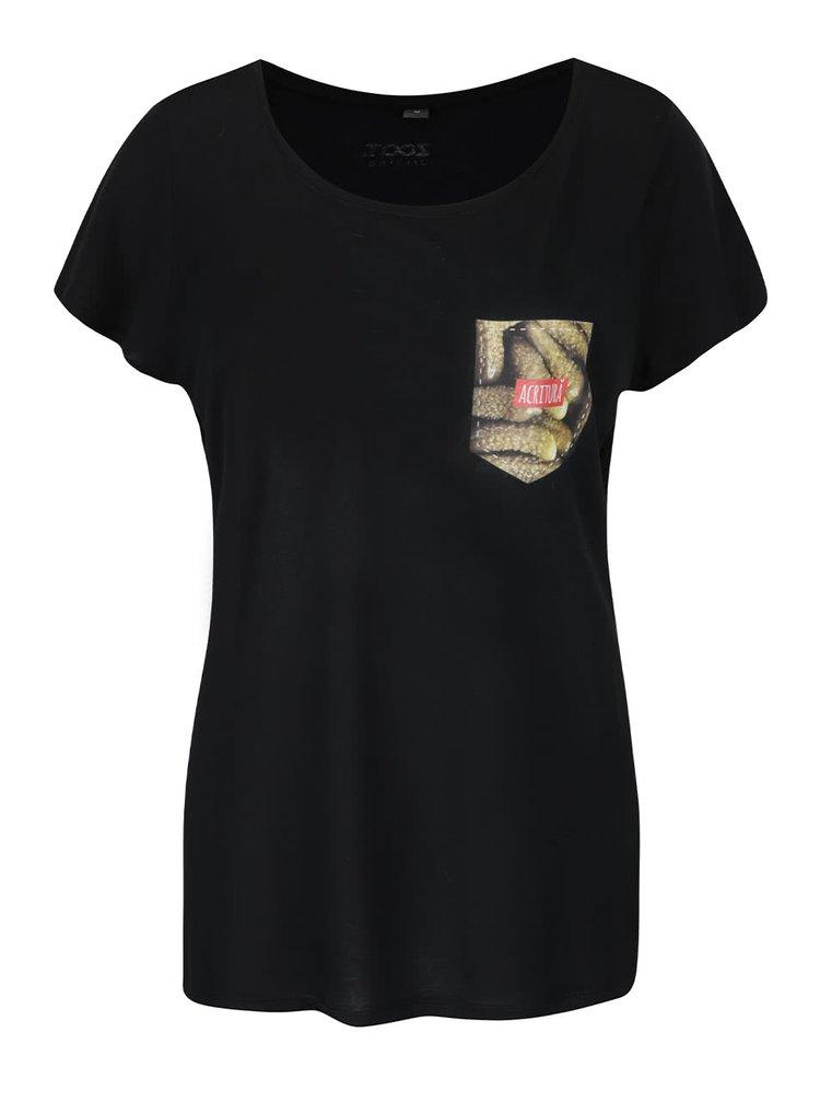 Černé dámské tričko s potiskem ZOOT Originál Acritura