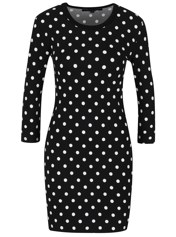 Černé šaty s puntíky French Connection Tim