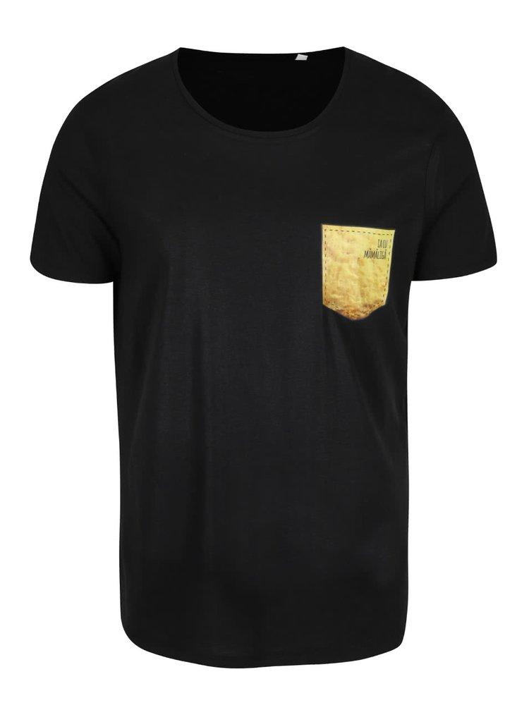 Tricou negru de bărbați ZOOT Original Ia cu Mămăligă