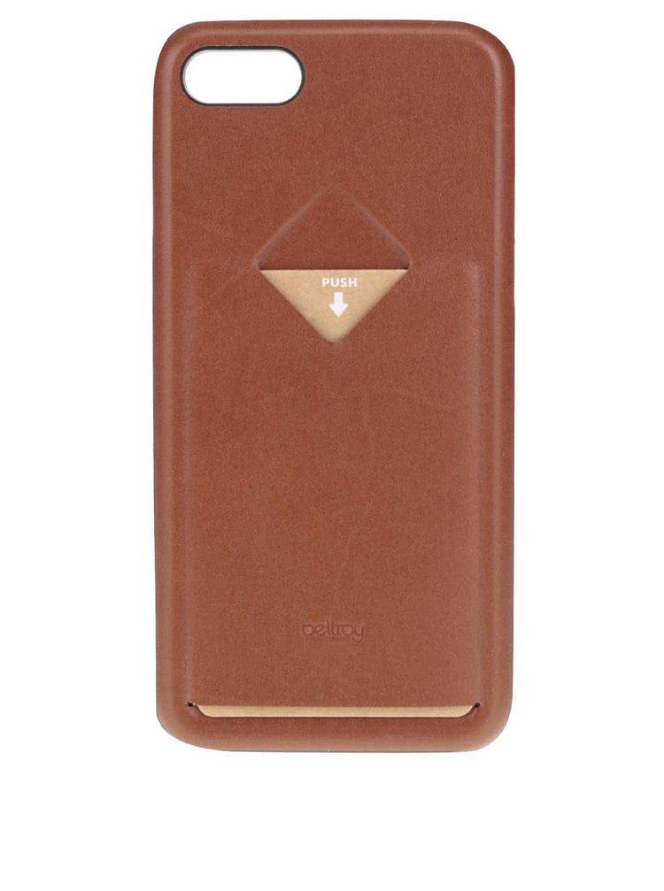 Světle hnědý kožený kryt pro iPhone 7 s přihrádkou na platební kartu Bellroy