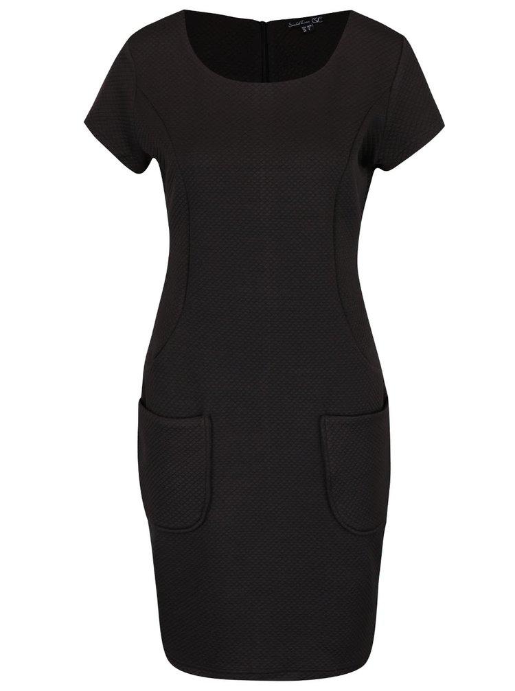 Černé šaty s kapsami Smashed Lemon