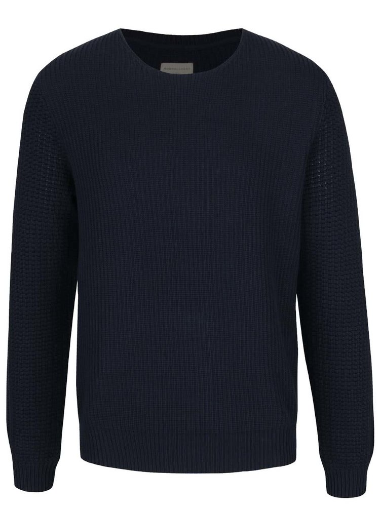 Pulover bleumarin Selected Homme Myle din bumbac