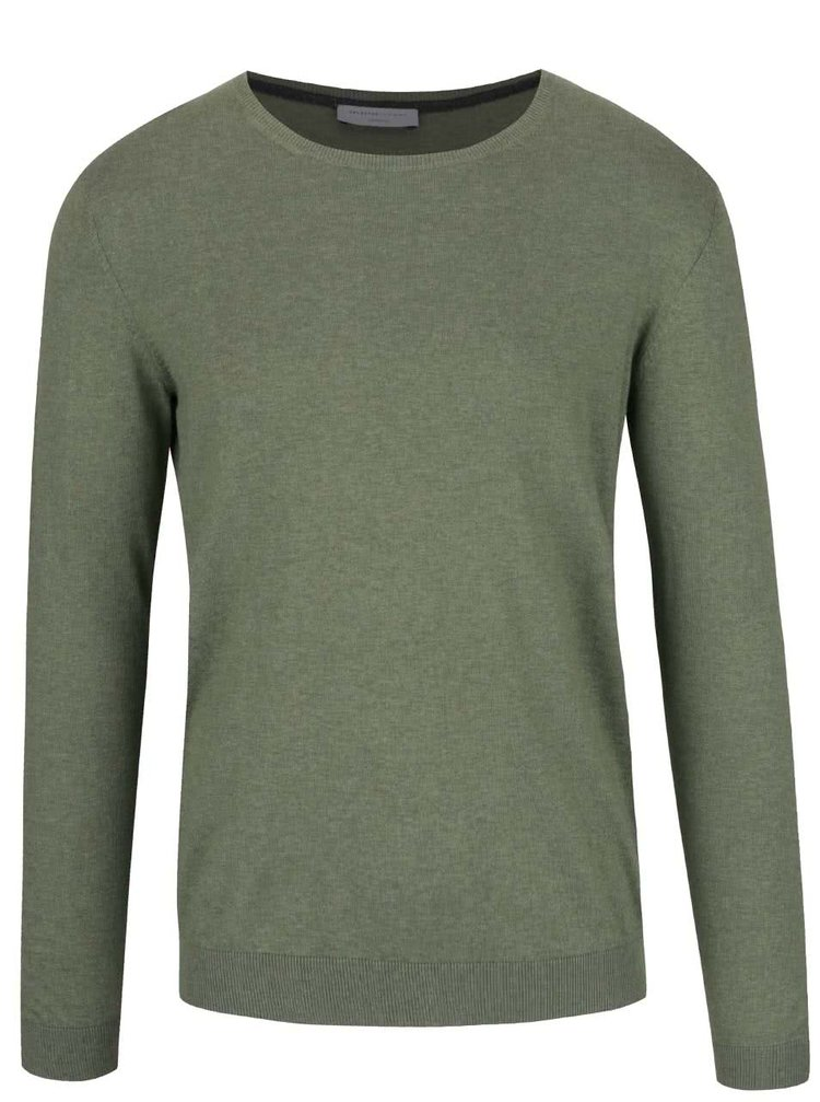 Pulover verde deschis Selected Homme Seb din bumbac