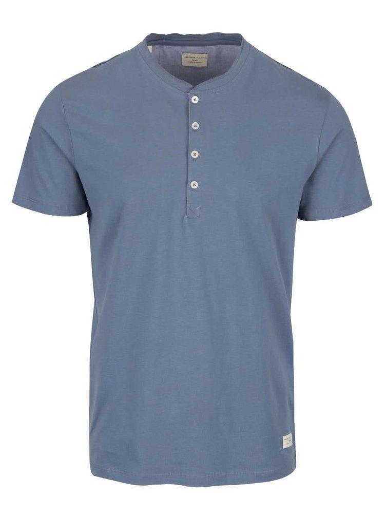Tricou albastru cu nasturi Selected Homme Nikas
