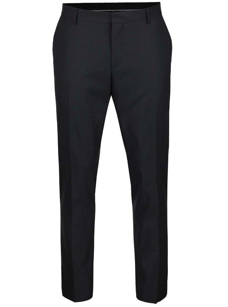 Pantaloni gri închis Selected Homme Done Tuxleon cu model discret