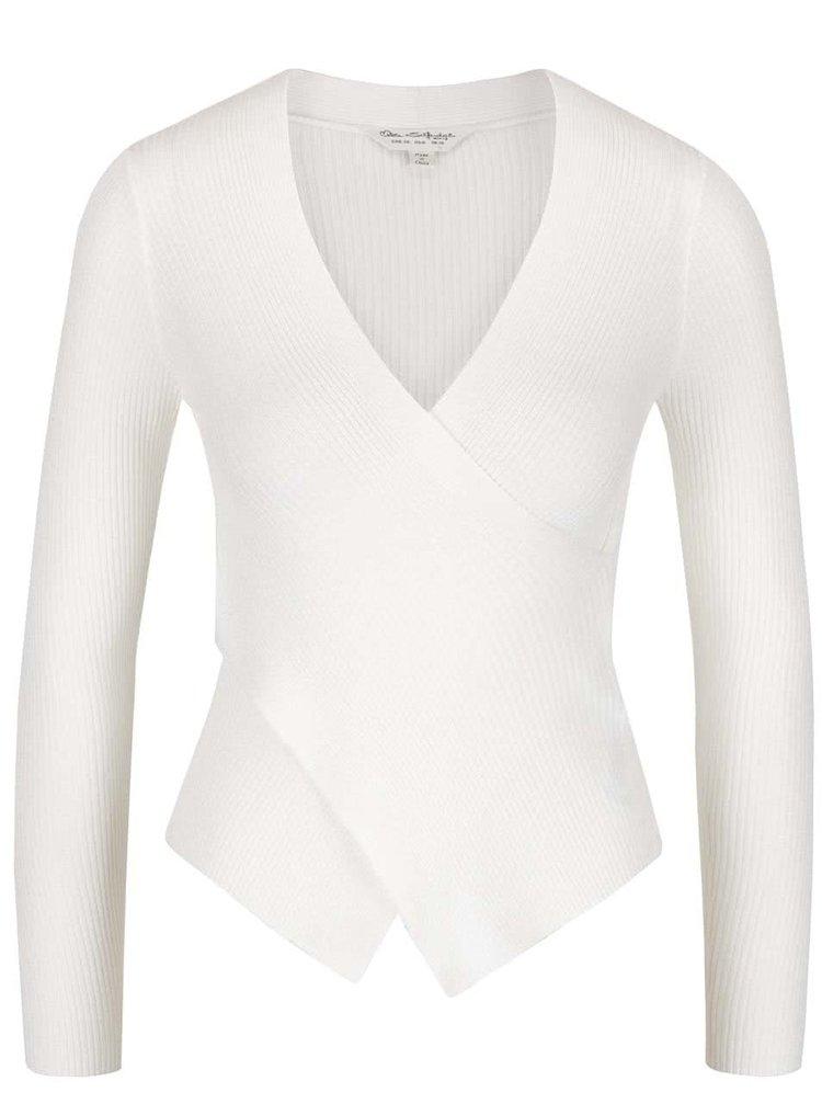 Krémový třpytivý svetr s překládaným výstřihem Miss Selfridge