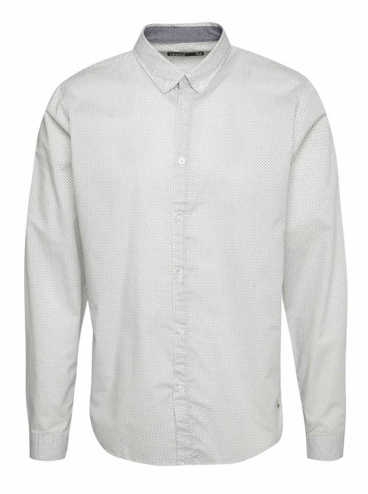 Biela neformálna košeľa s jemným vzorom !Solid Floyd