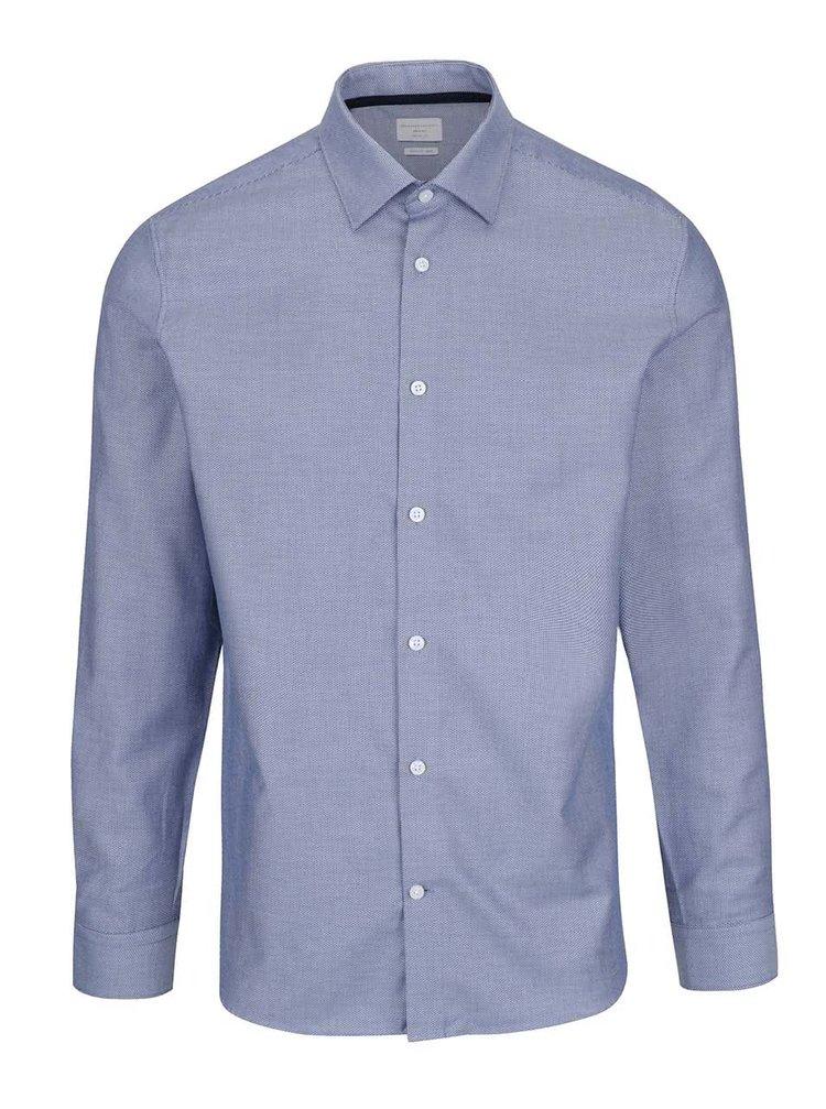 Modrá košile s jemným vzorem Selected Homme Two Easy