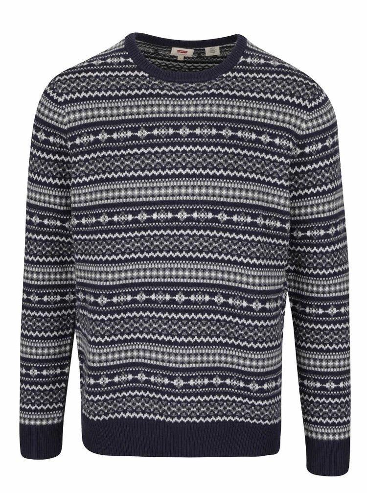 Tmavomodrý pánsky vzorovaný sveter Levi's®