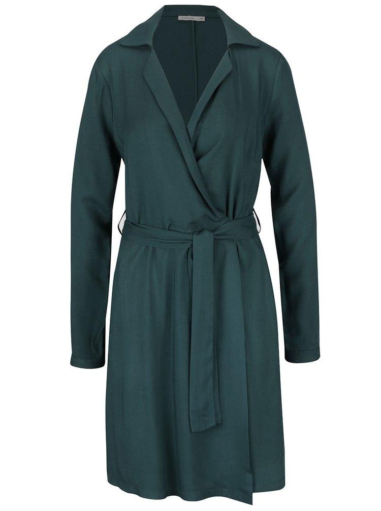 Zelené zavínovacie šaty Lavand