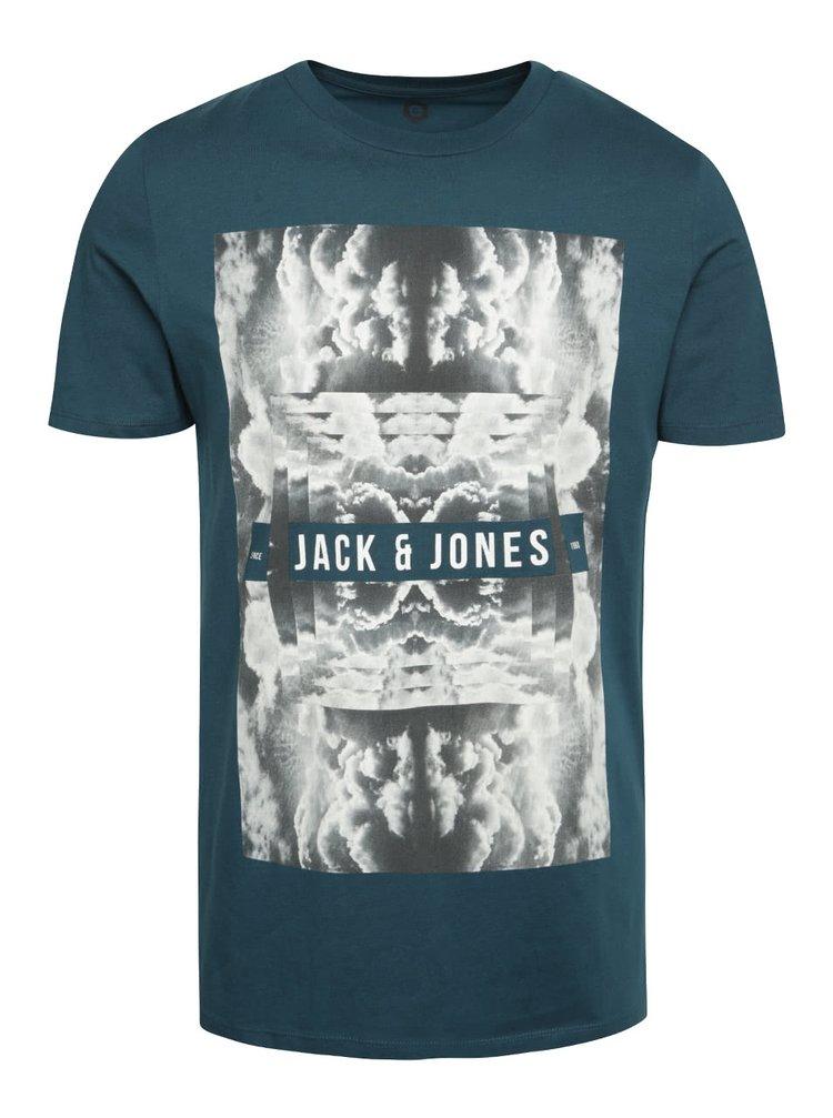 Zelené triko s potiskem Jack & Jones Frank