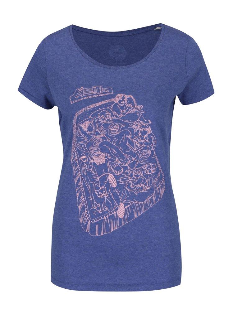 """""""Dobré"""" modré dámské tričko Cesta domů"""