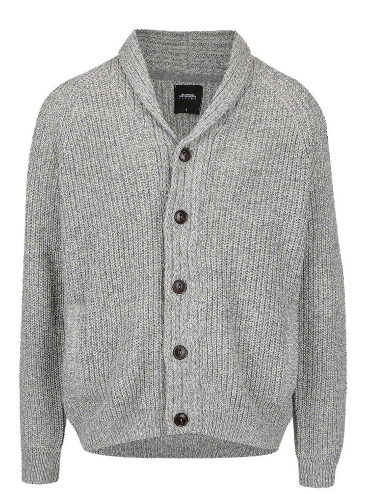 Cardigan gri deschis Burton Menswear London