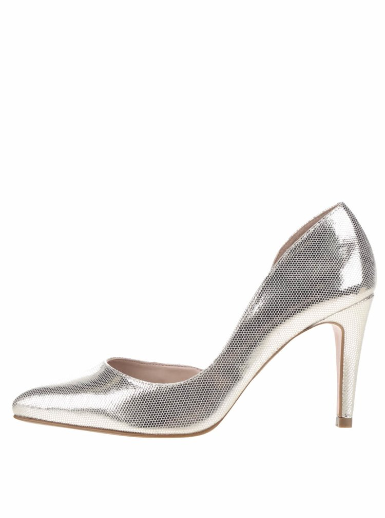 Pantofi argintii cu decupaje OJJU
