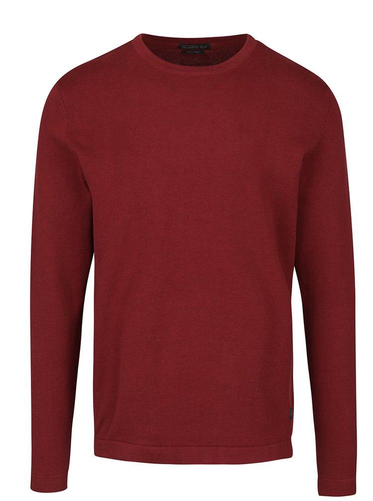 Bluză roșu cărămiziu Jack & Jones Basic din bumbac