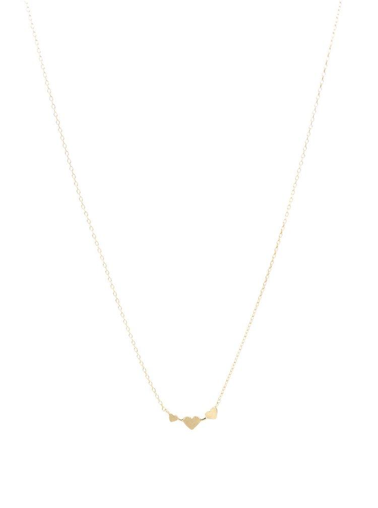 Náhrdelník s přívěskem ve zlaté barvě v dárkovém balení Pieces Listen to your heart
