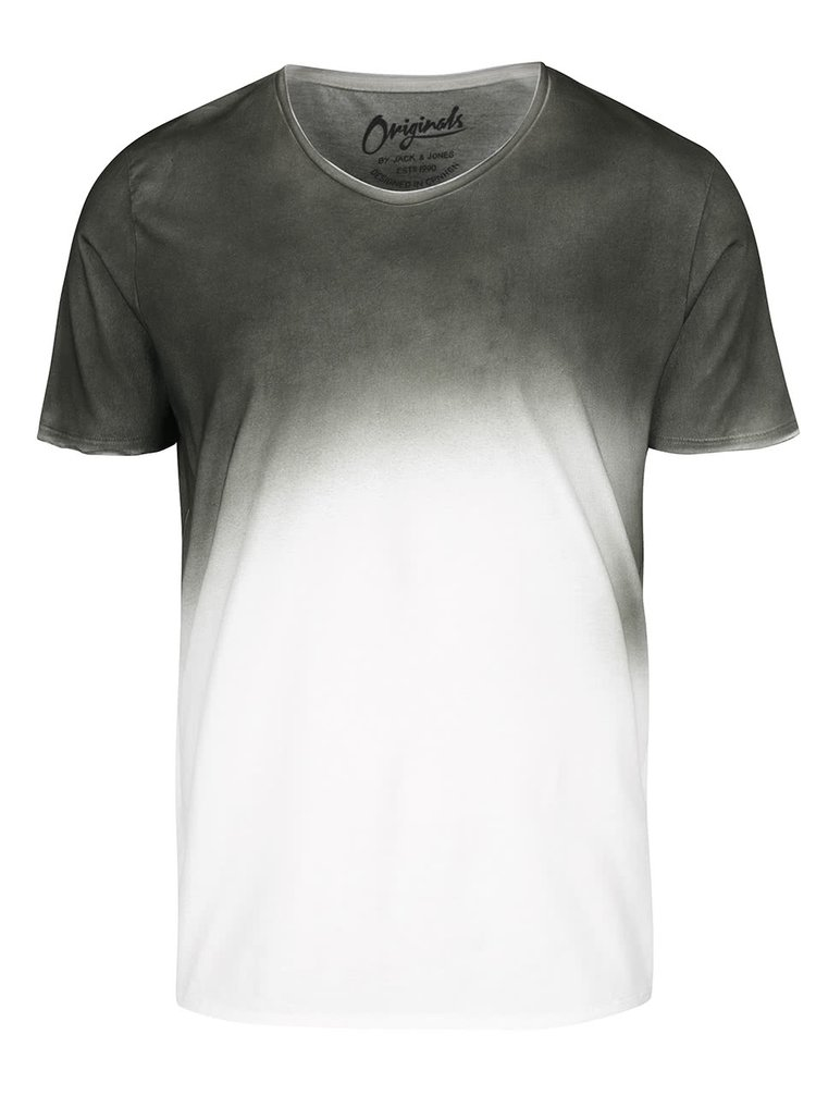 Zeleno-krémové triko s ombré efektem Jack & Jones Spray