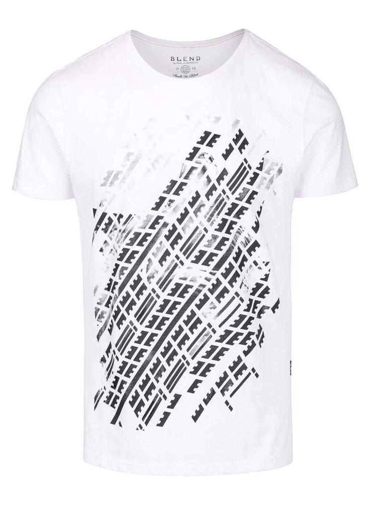 Bílé triko s potiskem Blend