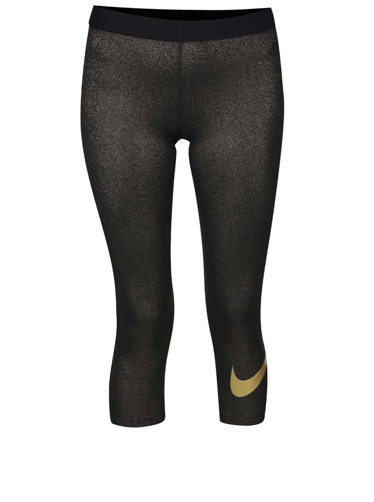 Dámské 3/4 legíny ve zlato-černé barvě Nike Pro Cool Capri
