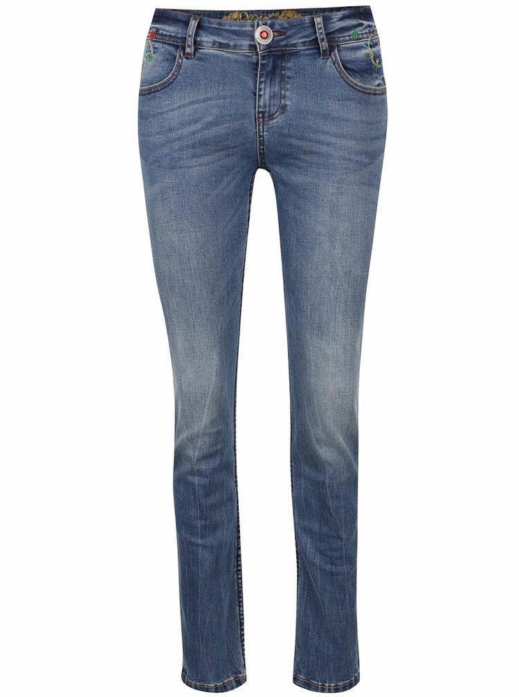 Světle modré džíny Desigual Refriposas