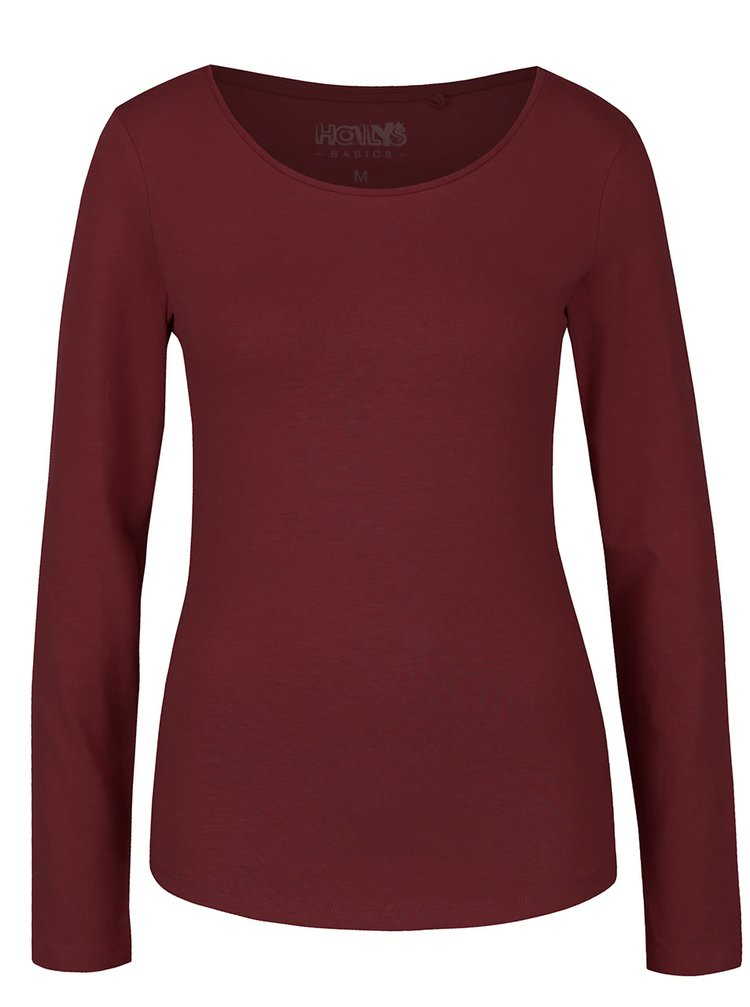 Vínové tričko s dlouhým rukávem Haily´s Tina