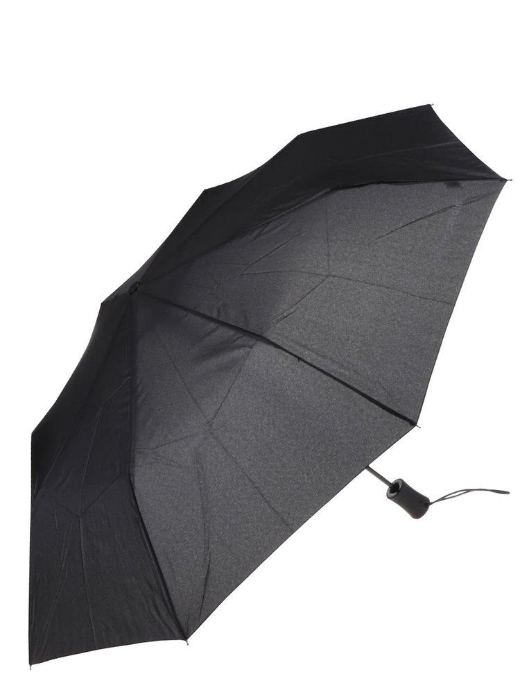 Černý vystřelovací deštník s poutkem Dice