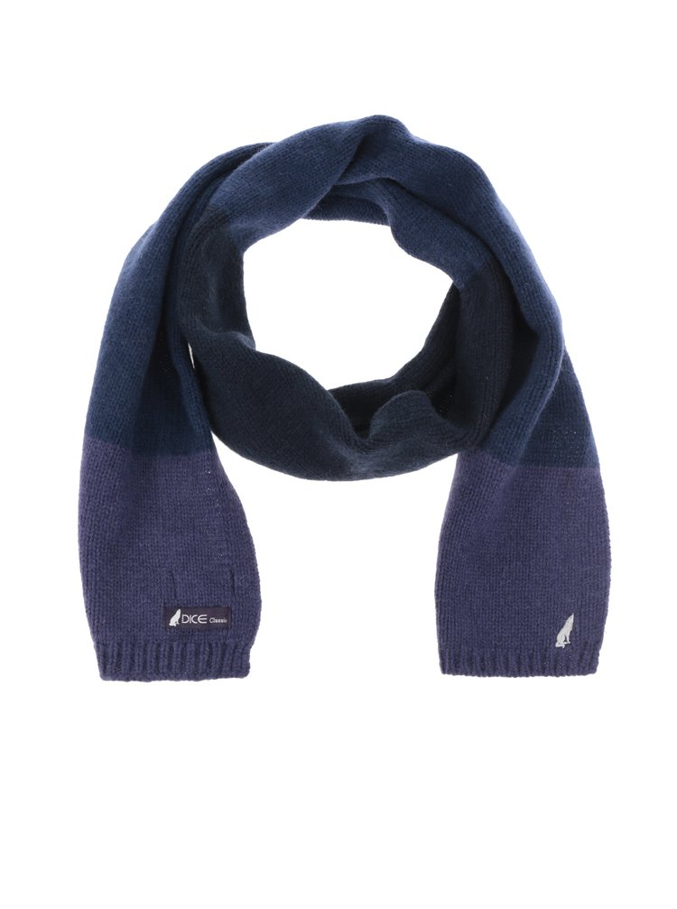 Fular albastru & violet Dice cu model în dungi
