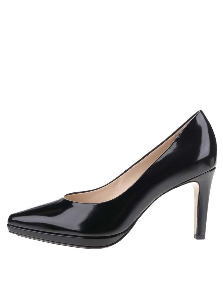 Pantofi negri Högl din piele