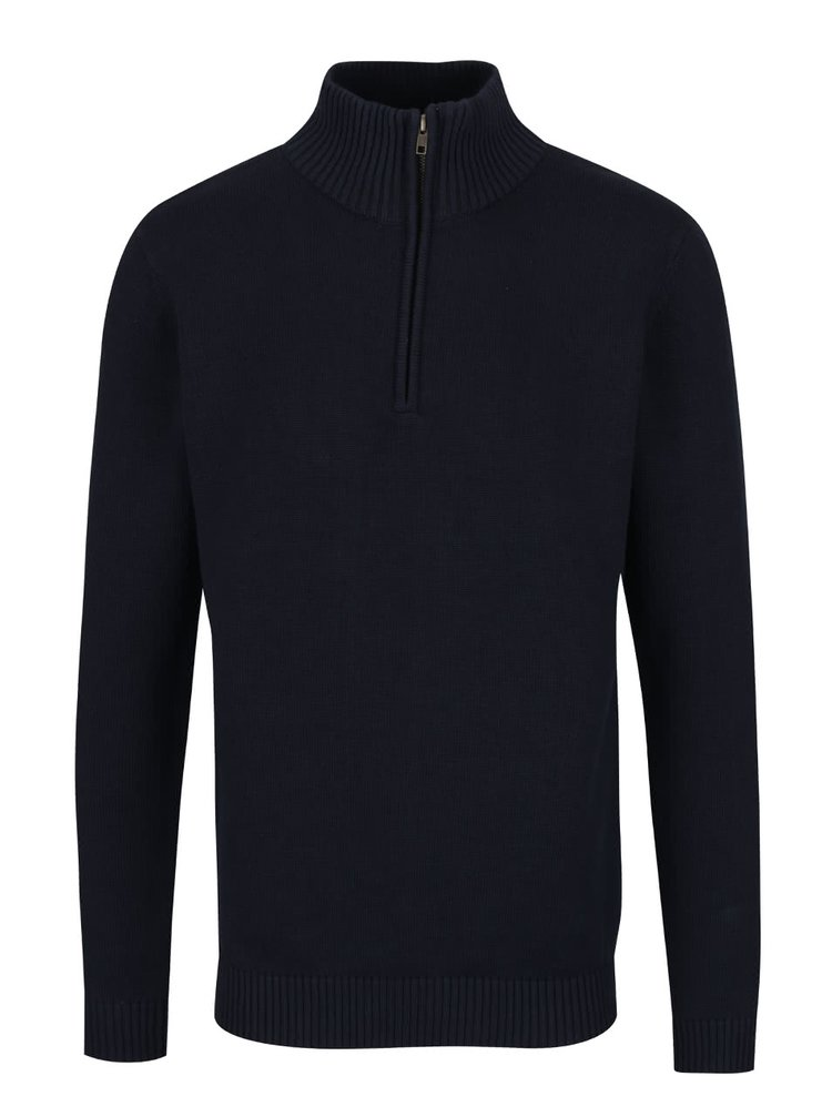 Tmavě modrý svetr se zipem Selected Homme Andy