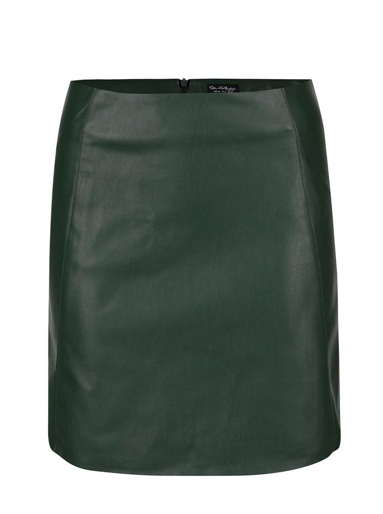 Fustă verde închis din imitație de piele Miss Selfridge