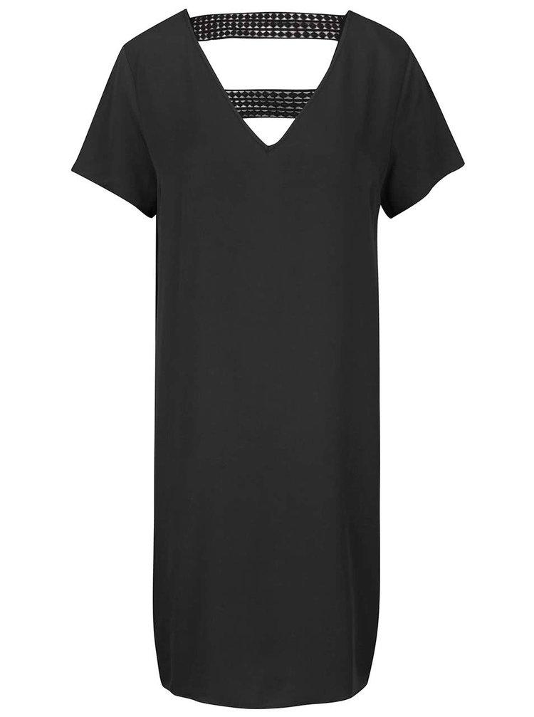 Černé šaty s krajkovými detaily VILA Sommi