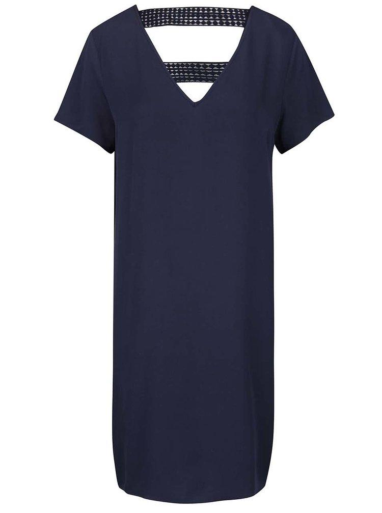 Tmavě modré šaty s krajkovými detaily VILA Sommi