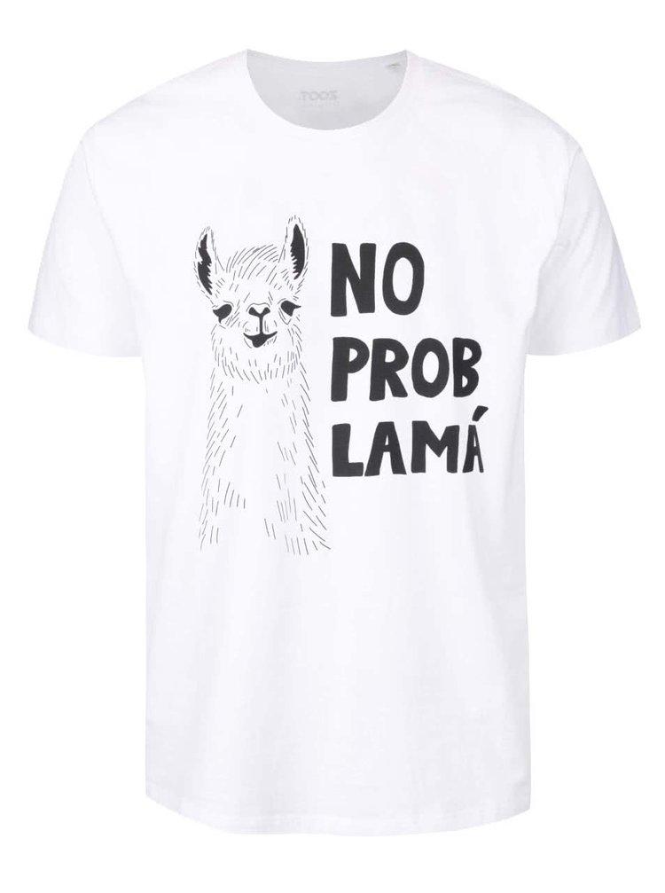 Tricou alb din bumbac organic cu print pentru barbati - ZOOT Originál No probLamá