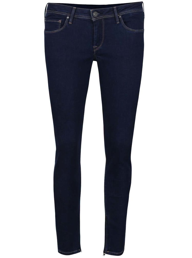 Jeanși albastru închis Pepe Jeans Cher
