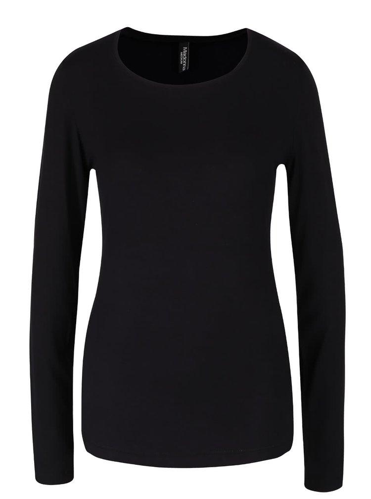 Černé tričko s dlouhým rukávem Madonna Monti