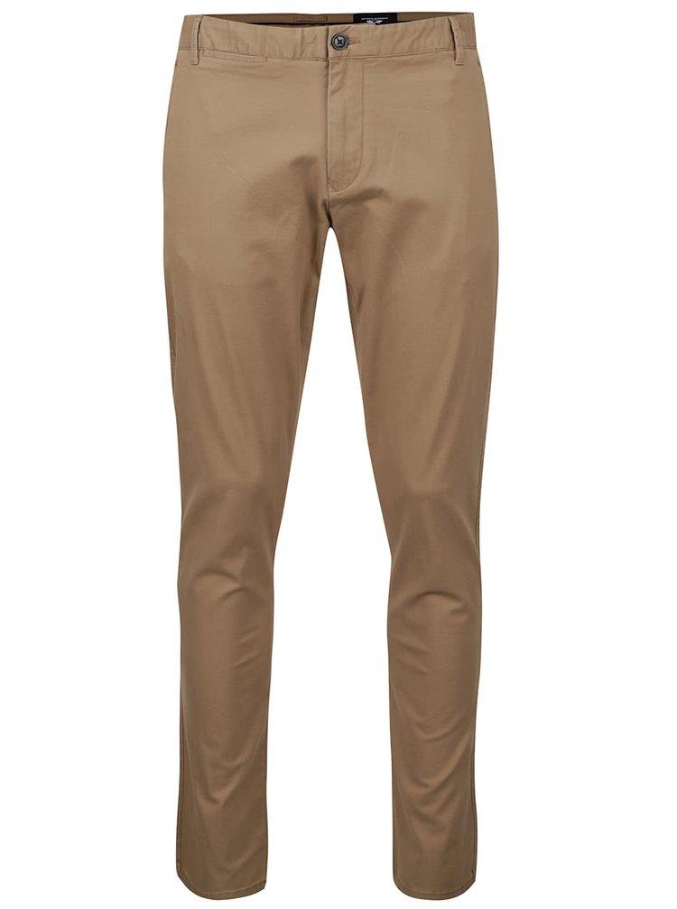 Světle hnědé chino kalhoty Selected Homme One