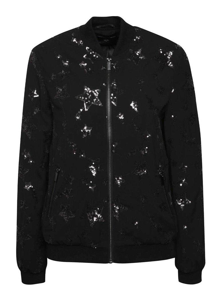 Jachetă bomber neagră Dorothy Perkins cu detalii strălucitoare