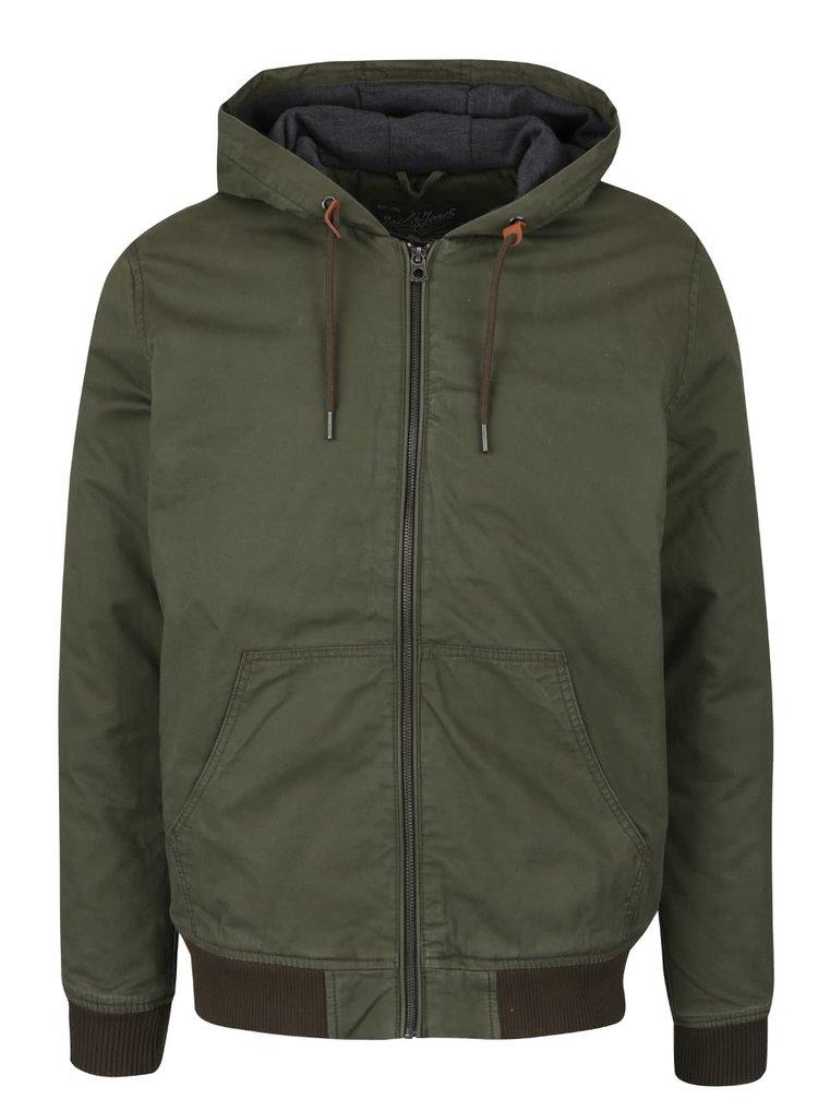 Tmavě zelená bunda s kapucí Jack & Jones High